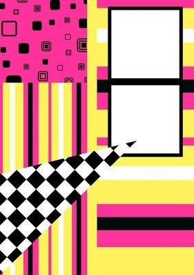 孟菲斯的海报,与简单的几何元素,背景图案 80-90 年代的时尚潮流
