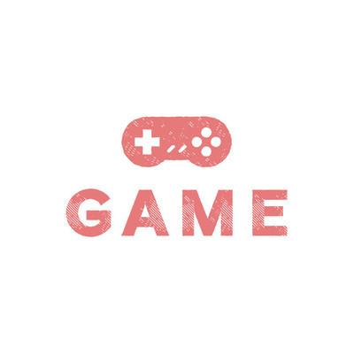 在扁平化趋势的游戏操纵杆插图