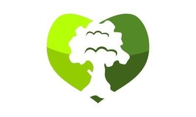 心脏生态标志设计模板矢量