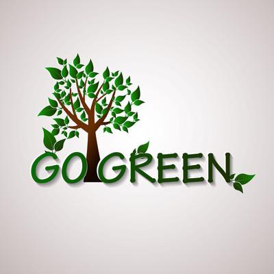 去绿色设计模板。环境矢量图