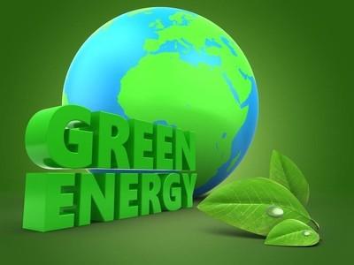 地球地球与树叶的绿色标志