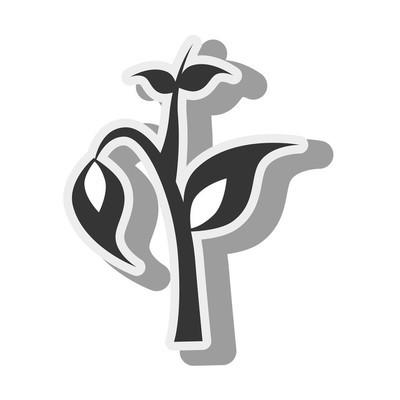 植物棵干图标矢量图形