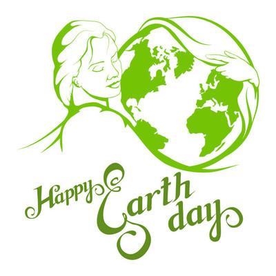 快乐的地球日矢量图