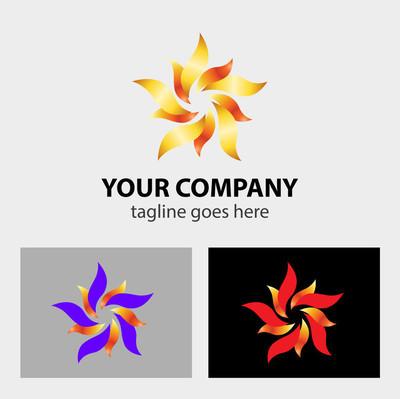 花 logo 标志