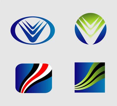 图标集。logo 设计元素