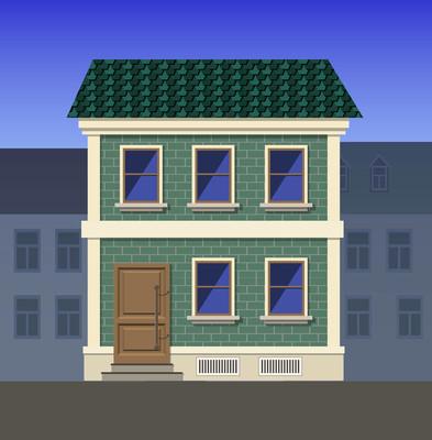 古典风格的两层砖房