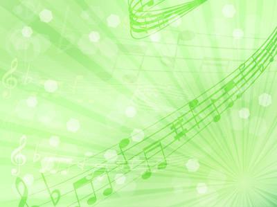 音乐音符评分绿色背景