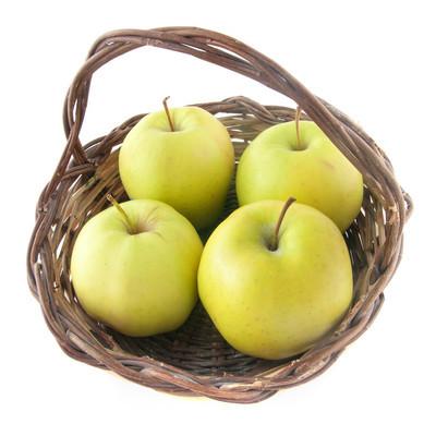 四个苹果在篮子里