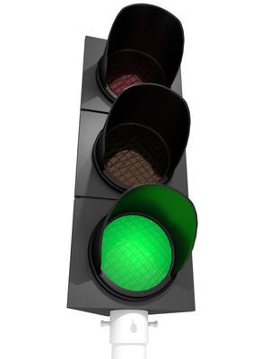 交通灯绿灯亮