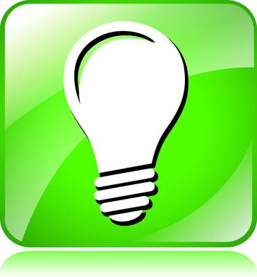 绿色灯灯泡图标