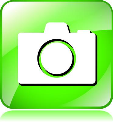 绿色的摄像机图标