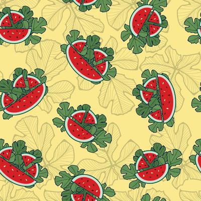 红西瓜灵感无缝花纹