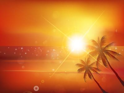 海上日落背景