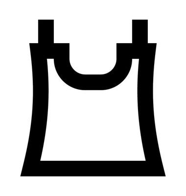 背心线矢量图标