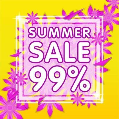 sale banner summer 99%