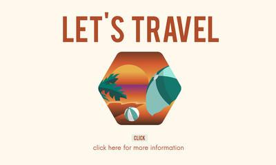 模板与旅游概念