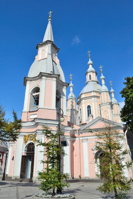 Russia. St. Petersburg. St. Andrew's Cathedral in a sunny summer day