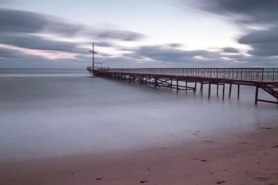在黑海海岸海上日落