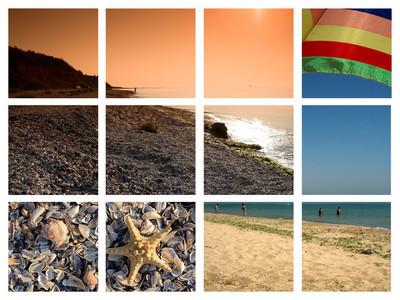 海滩图片来自保加利亚的拼贴画