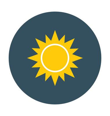 日平面矢量图标