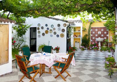 典型的西班牙庭院