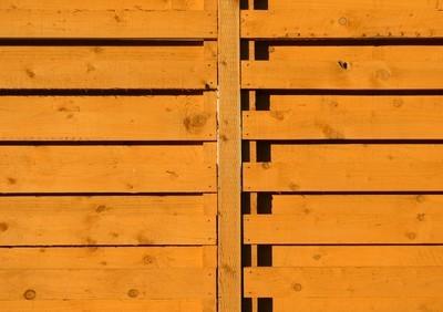 木制花园的栅栏