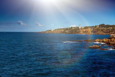 洛基海岸线。查看海岩海岸, 海浪打破