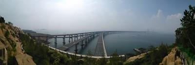 大连星海大桥 Xinghai Bridge in Dalian, Liaoning province.