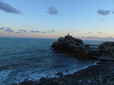 一个惊人的标题从海边的伟大的视野, 从维拉兹的海和土地