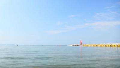 海在格但斯克波兰波罗的海灯塔