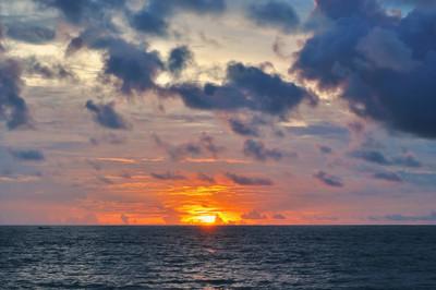 热带海上日落