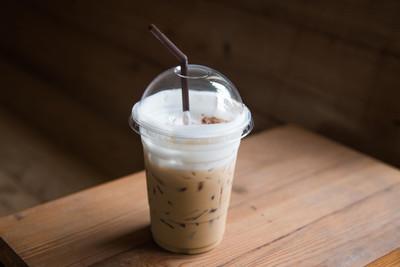 塑料玻璃冰咖啡