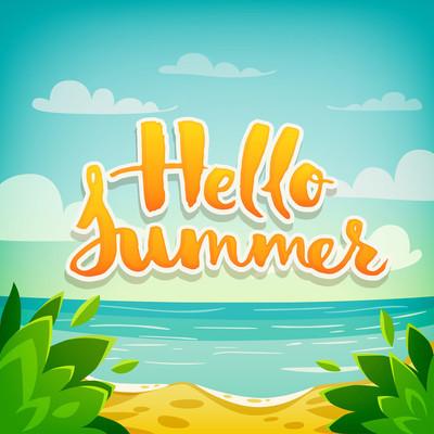 你好夏天度假海报