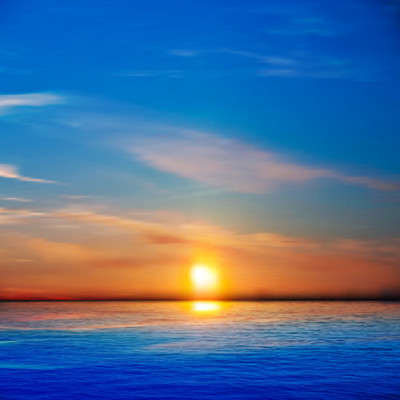 抽象背景与海上日出