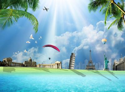 到世界各地旅游