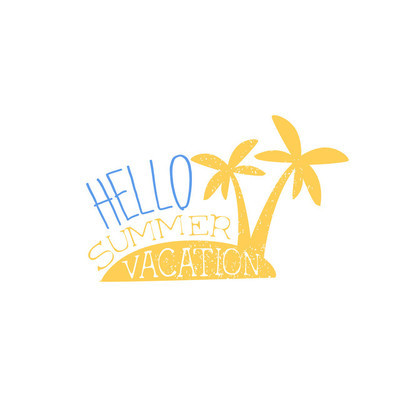 Hello Vacation Colorful Ad