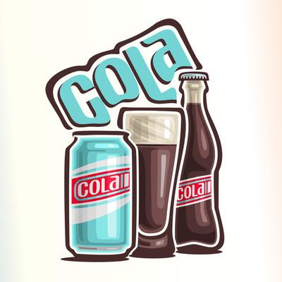 矢量图的主题的可乐的标志
