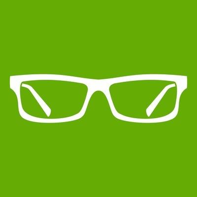 眼睛眼镜图标绿色