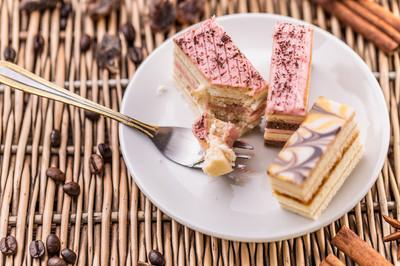 分层的小蛋糕