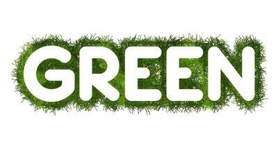 与草周围绿色标题