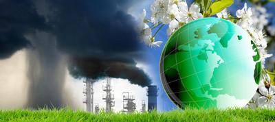 世界地球日。变化的工业有毒物质排放对气候的影响。生态学