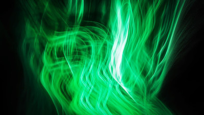 抽象的绿色发光火焰