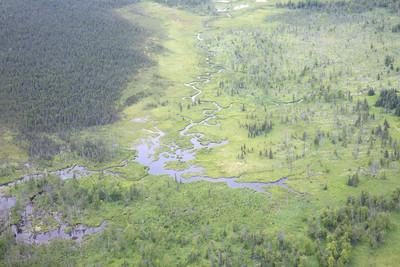 阿拉斯加荒野的鸟瞰图