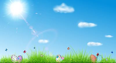 复活节彩蛋复活节背景