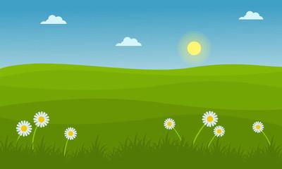 在春天的山风景插图