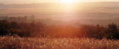 清晨, 阳光照耀下的风景