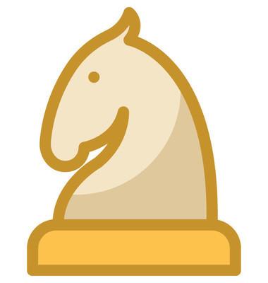 国际象棋骑士矢量图标