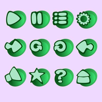 游戏 Ui 按钮