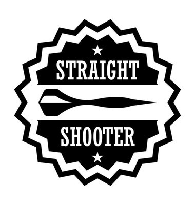 Straight Shooter Flat Vector Icon