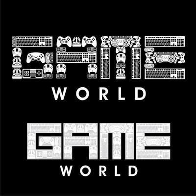 游戏世界标志矢量